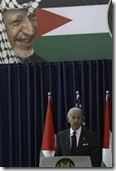 Joe Biden under image of Arafat