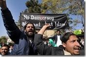 anti-US slogans